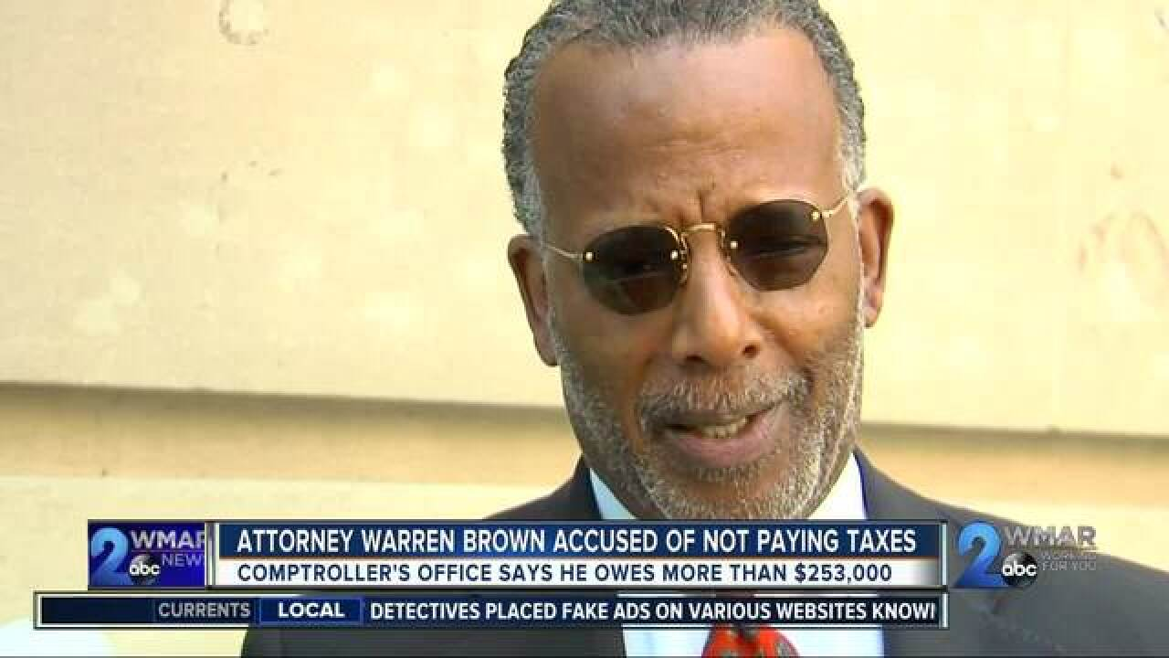Prominent Baltimore Lawyer Warren Brown owing more than ...