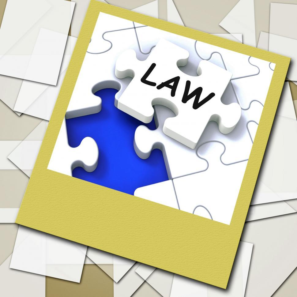 Law Photo Shows Legal Information And Legislation On Internet